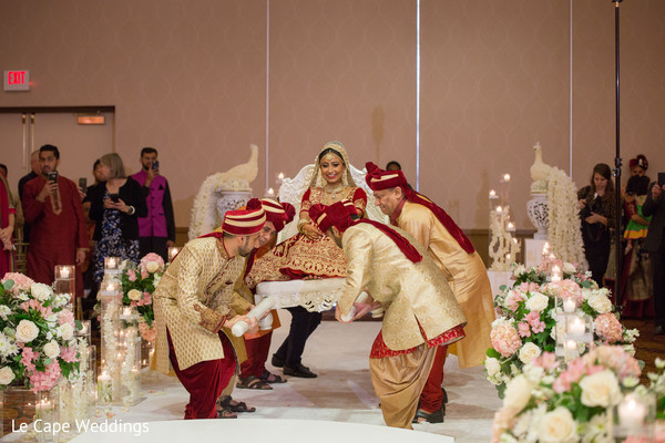 Indian bride at the venue