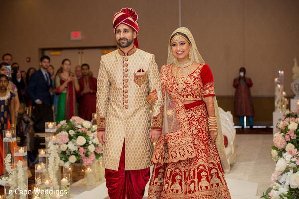 Bride and groom looking stunning