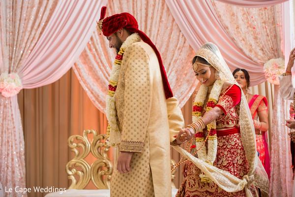 Raja and Maharani during the rituals