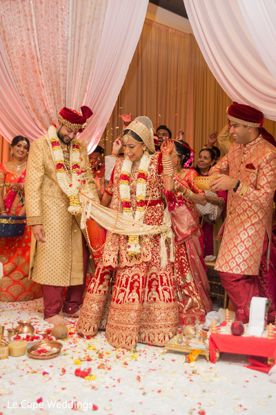 Maharani and Raja during the ceremony