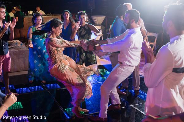 Upbeat sangeet dance .