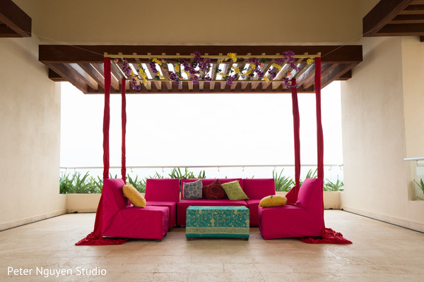Indian seats for pre-wedding celebrations.
