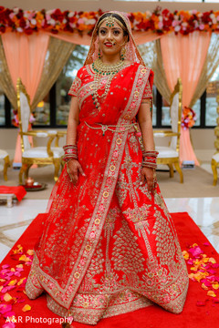 Indian bride looking stunning