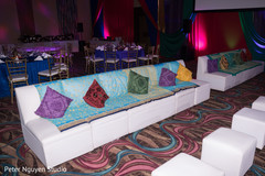 Marvelous Indian sangeet seats decoration.