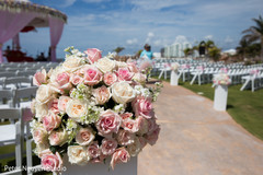 Magnificent Indian wedding ceremony flowers decor.
