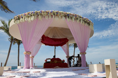 Incredible outdoors mandap decor.