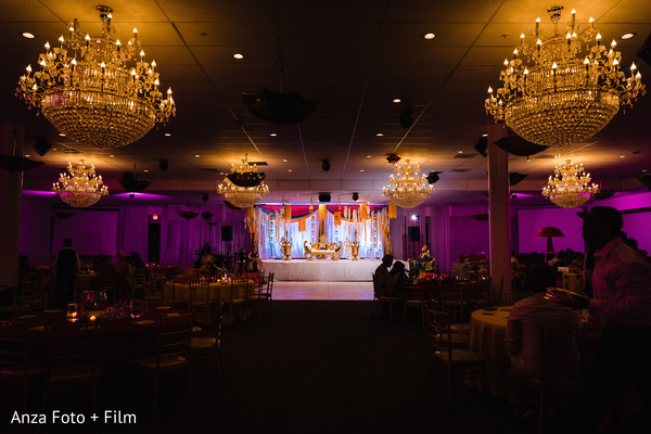 Stunning Sangeet venue decorations.