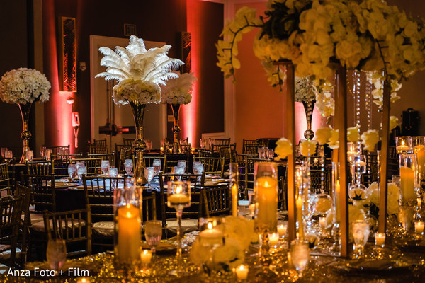 Enchanting indian wedding reception decor