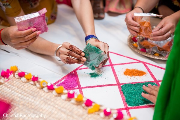Details of the colorful pre-wedding celebrations