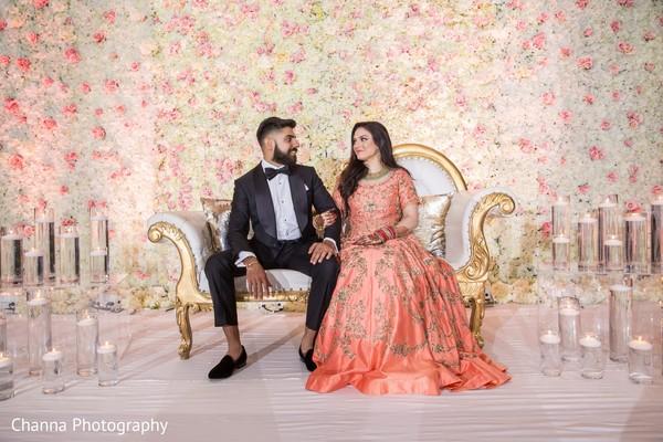 Maharani and Raja posing for the photo shoot