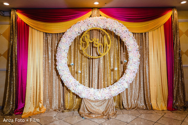 Personalized Indian wedding flowers decoration.