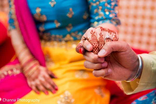 Indian bride wearing the mehndi