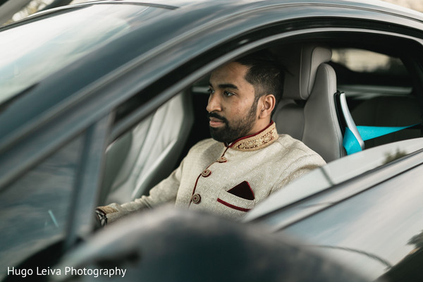 Indian groom with his ride