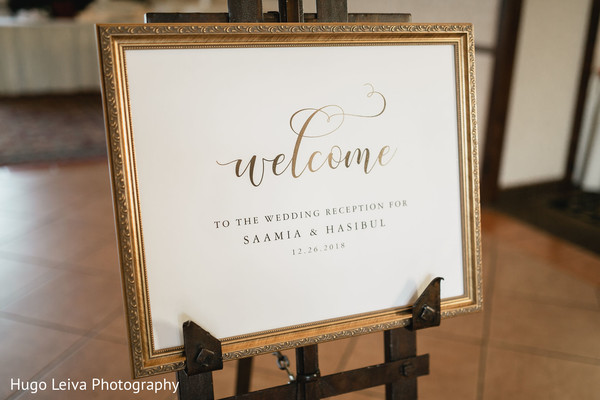 Welcome sign from couple