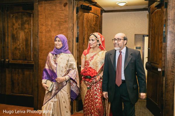 Indian bride entering the reception