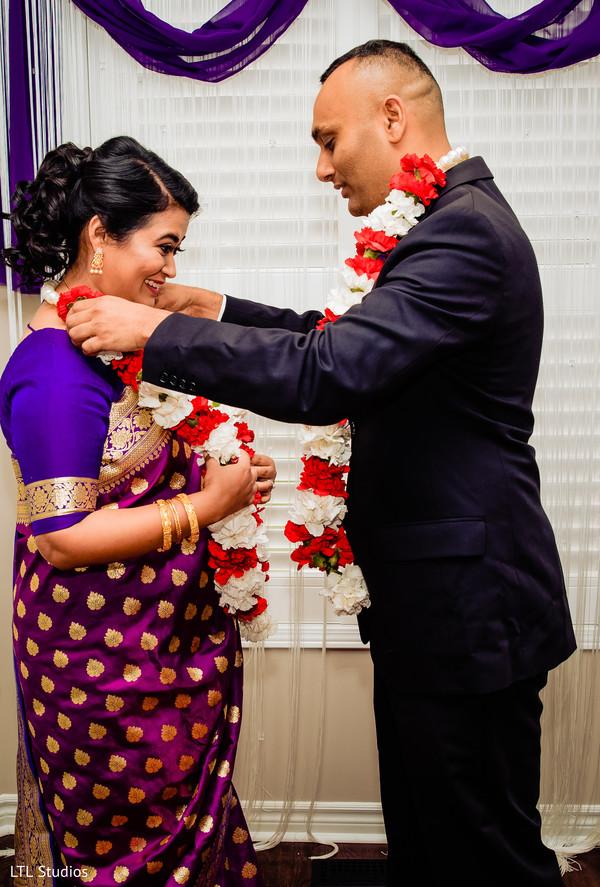 Maharani and Raja during the civil ceremony