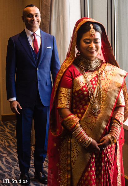 Indian bride about to meet the Raja