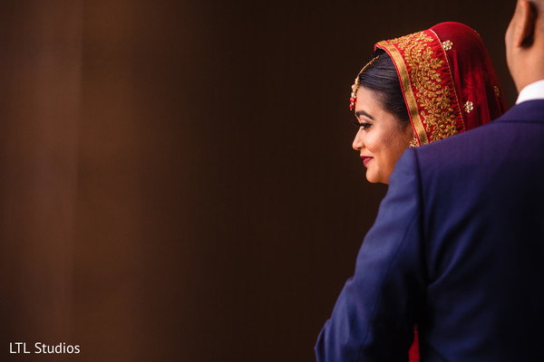 Indian bride during the rituals
