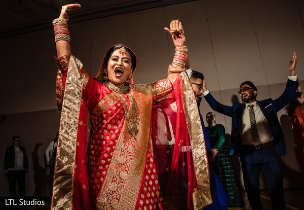 Indian bride looking heavenly