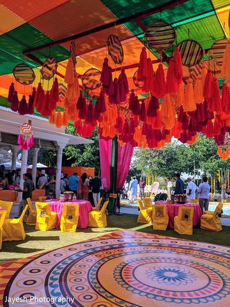 Marvelous mehndi party decorations.