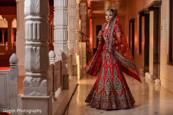 Incredible Indian bridal ceremony lehenga outfit.