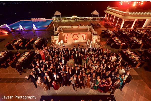 Stunning Indian wedding reception capture.