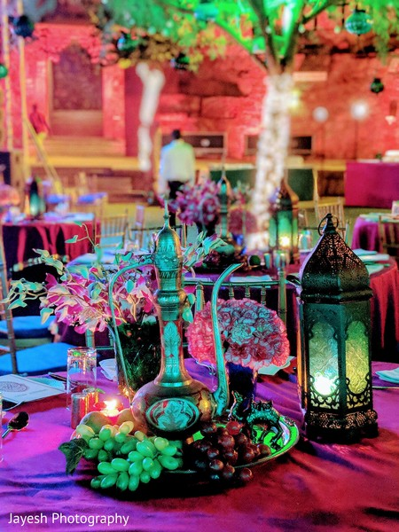 Marvelous Indian wedding table centerpiece decor.
