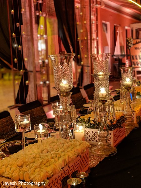 Creative indian wedding reception decor.