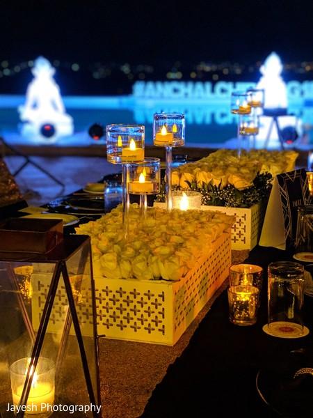 Incredible Indian wedding reception table decor.