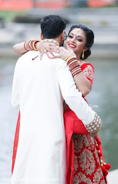 Charming Indian couple wedding photography.