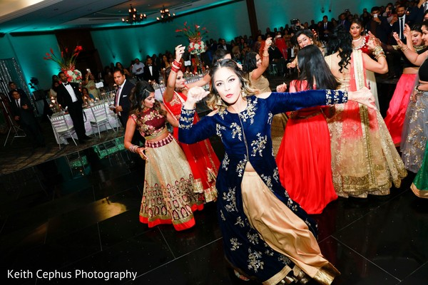Joyful Indian wedding party.