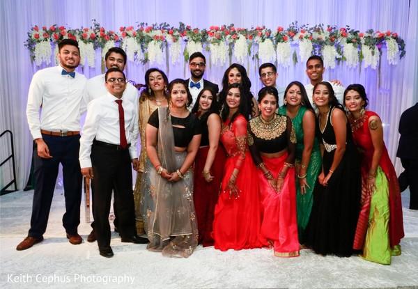 Indian wedding guests capture.