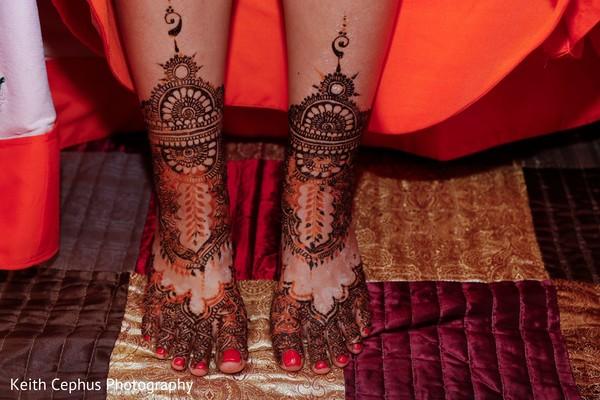 Maharani's henna art for feet.