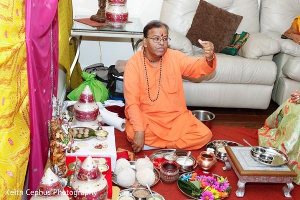 Marvelous capture of Indian haldi altar.