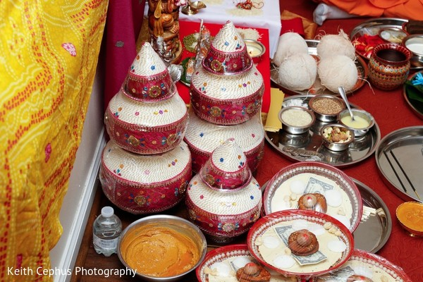Marvelous Indian pre-wedding ritual items.