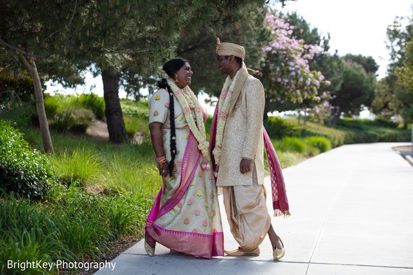 Ravishing Indian couple's wedding photo.