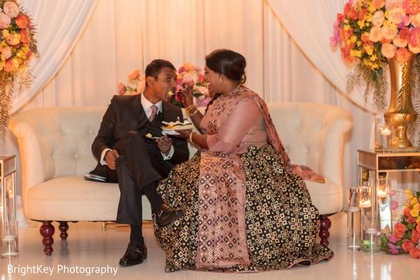 Maharani giving food to groom capture.