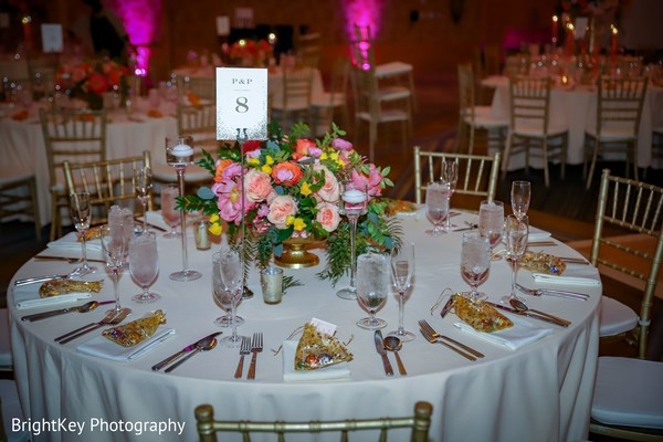 Enchanting indian wedding reception table numbers.