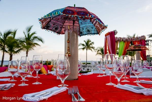Marvelous sangeet table decor.