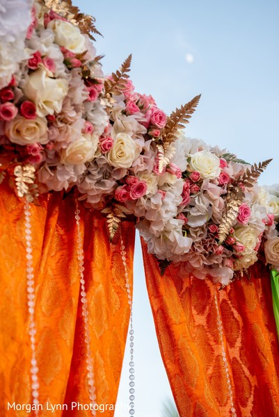 Magnificent Indian pre-wedding flowers decorations.