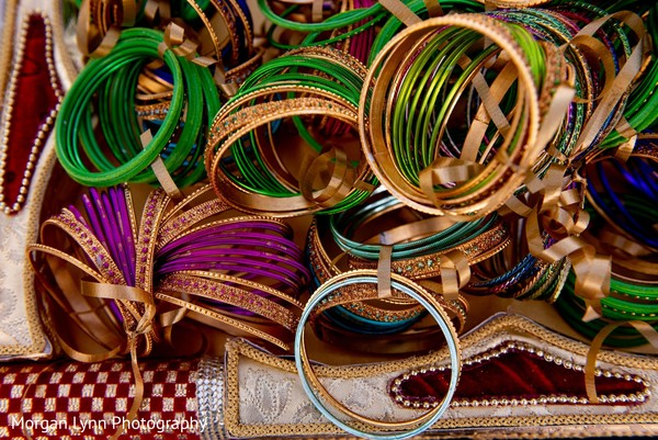 Incredible sangeet bangles as favors.