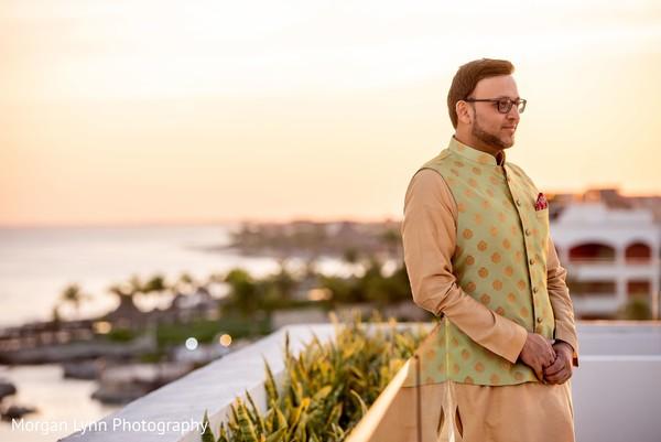 Indian groom outdoors capture.