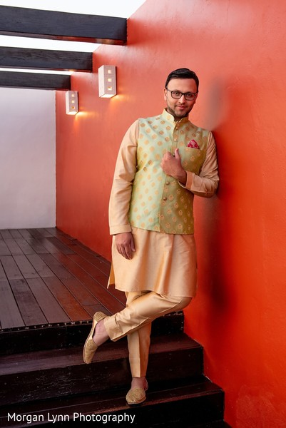 See this gorgeous indian groom ready for Sangeet.