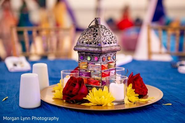 Incredible Indian pre-wedding lantern decor.