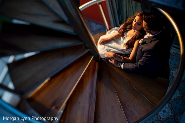 Romantic capture of Indian couple.