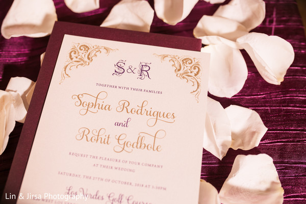 Incredible Indian wedding invitation card capture.