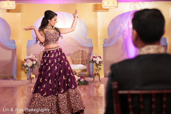 Maharani's wedding reception dance capture.