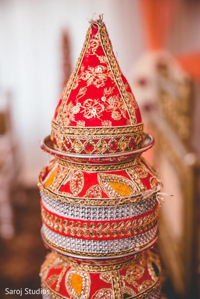 Indian wedding ritual item capture.