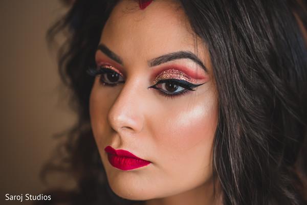 Stunning maharani's reception makeup.