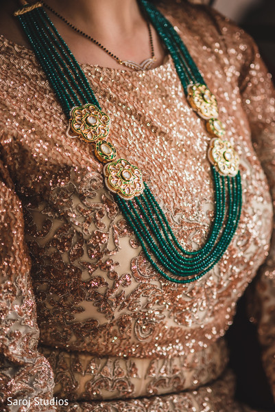Closeup capture of maharani's reception Haar.